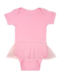 Infant Rabbit Skins Tutu Baby Rib Onesie