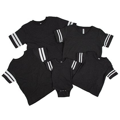 Sporty Striped Sleeve Tees