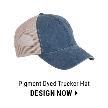 Custom Pigment Dyed Trucker Hat