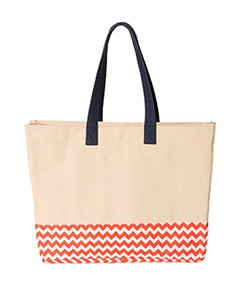 Patterned Bottom Beach Bag