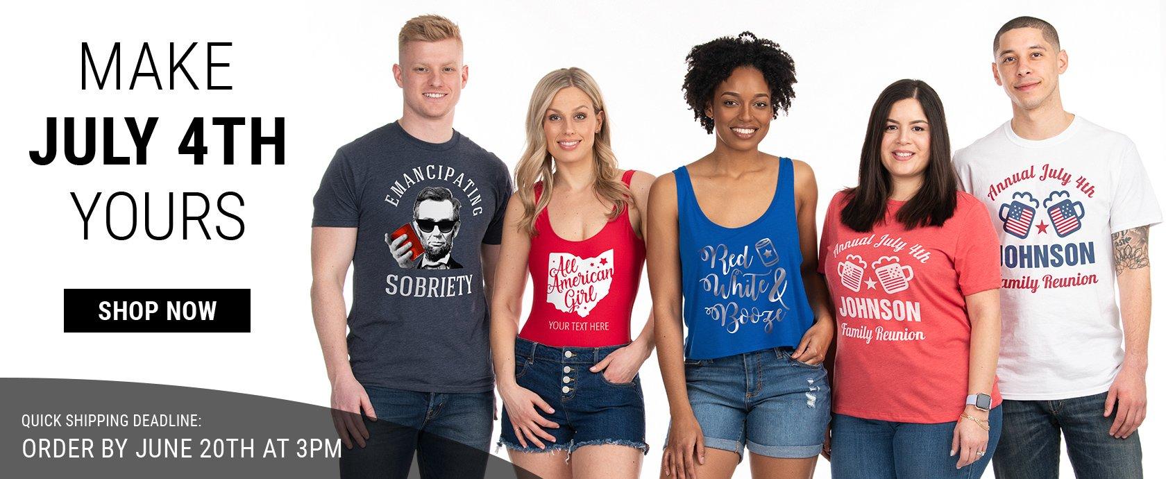 Shop Custom July 4th Apparel