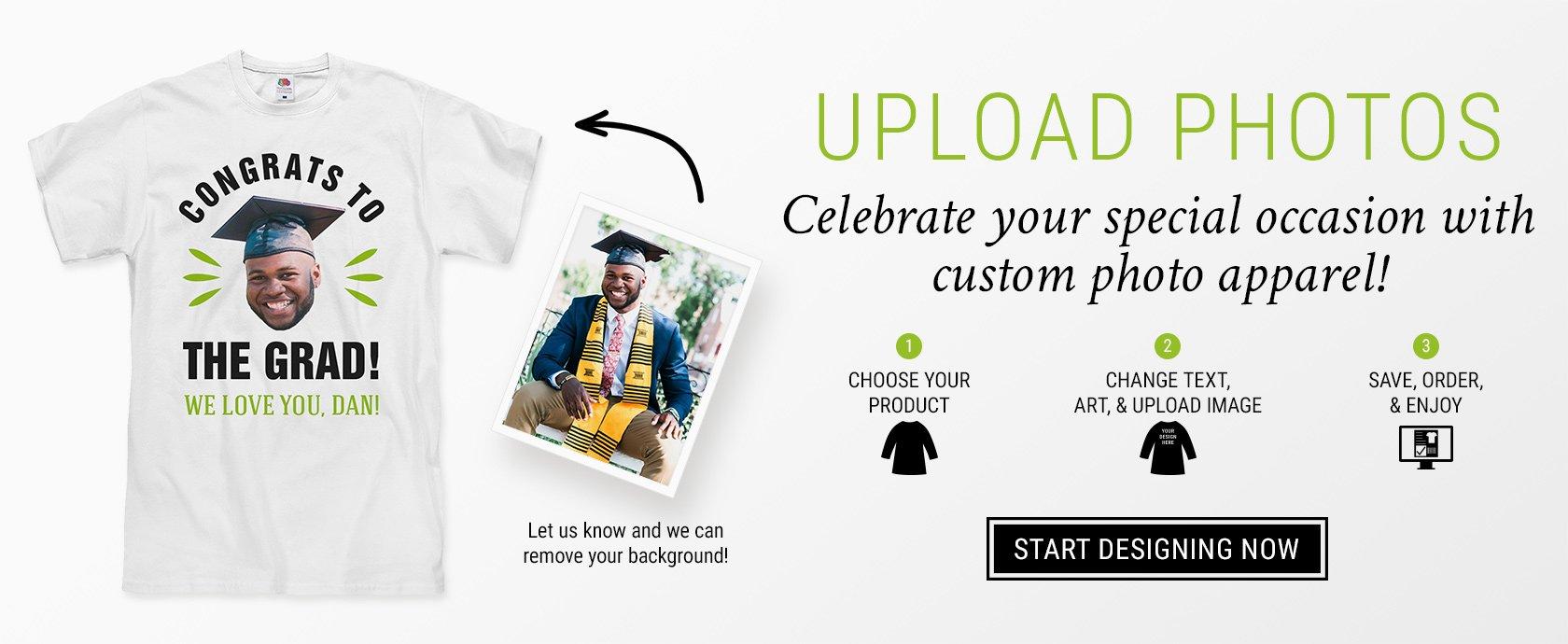 Custom Uploaded Photo Shirts