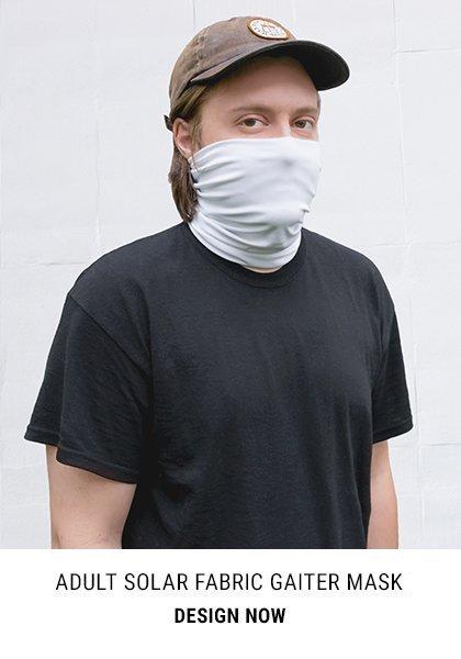 Adult Solar Fabric Gaiter Mask Buff