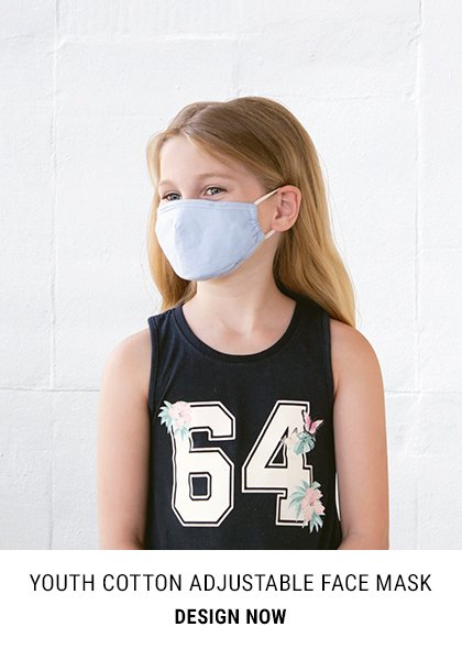 Youth Cotton Adjustable Face Mask