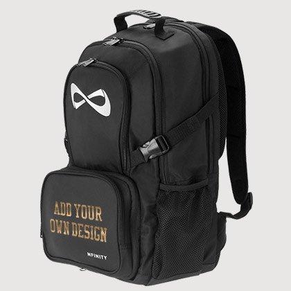 Metallic Foil Black Backpack