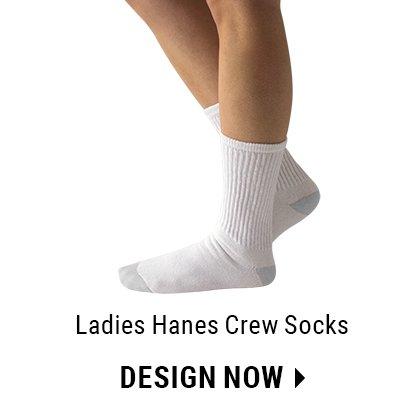 Custom Ladies Crew Socks