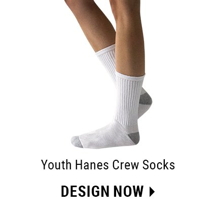 Custom Youth Crew Socks