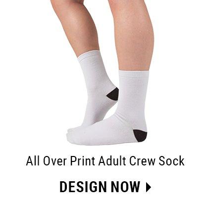 Custom All-Over Print Crew Sock