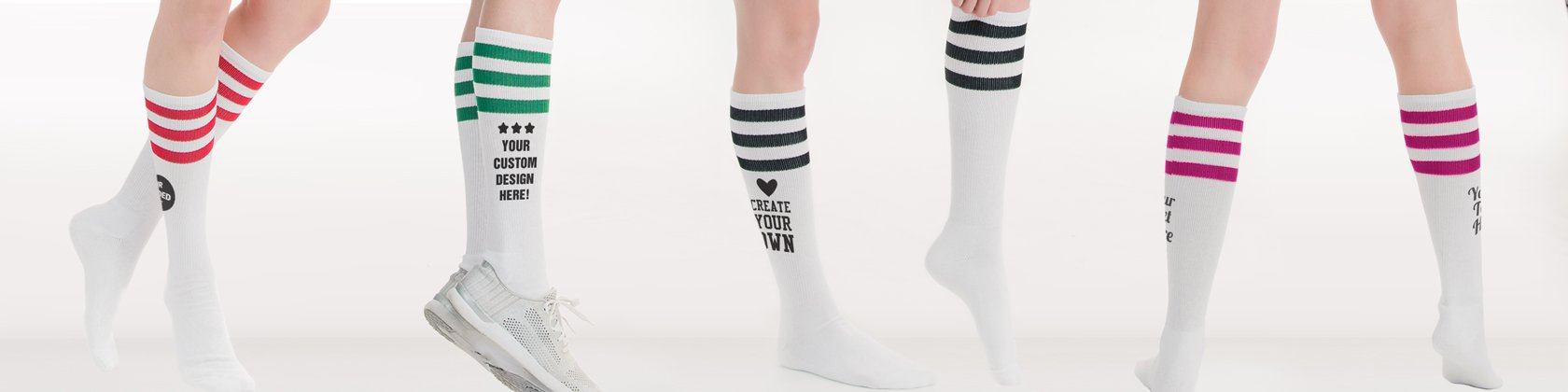2c3f63f287dd Custom Socks, Personalized Knee High Socks