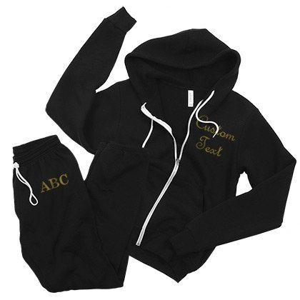 Black & Gold Full Zip