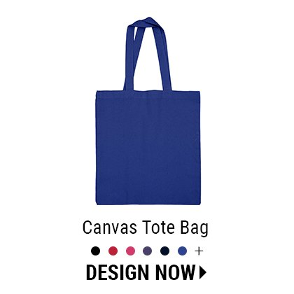 Custom Color Canvas Tote Bag