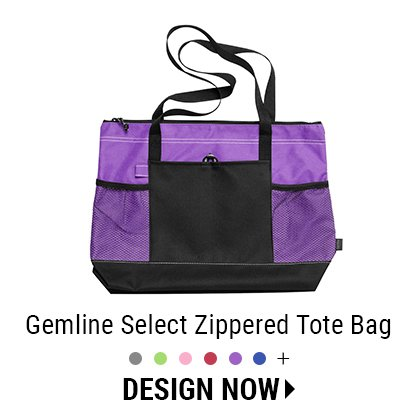Custom Gemline Zippered Tote Bag