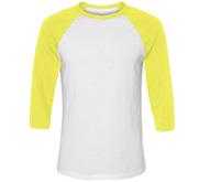 Unisex Neon 3/4 Sleeve Raglan T-Shirt