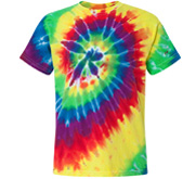 Youth Multi-Color Tie-Dye Spiral T-Shirt