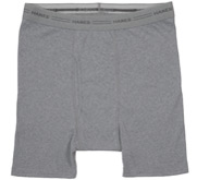 Hanes Heather Grey Boxer Brief Underwear
