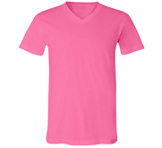 Unisex Canvas Neon V-Neck Jersey T-Shirt
