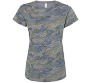 LAT Apparel Ladies Relaxed Fit Camo Tee