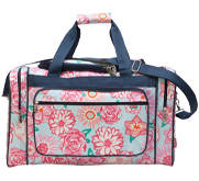 Patterned Zippered Duffel Bag