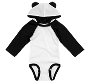 Infant Hooded Long Sleeve Raglan Bodysuit