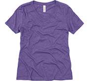 Bella + Canvas Ladies Relaxed Fit Super Soft Triblend V-Neck Tee