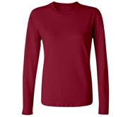 Junior Fit Long Sleeve Crewneck T-Shirt