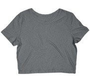 Ladies Slim Fit Crop Top Tee