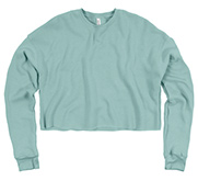 Bella + Canvas Ladies Relaxed Fit Cropped Fleece Crew