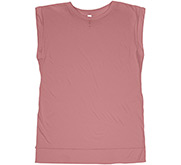 Bella + Canvas Ladies Flowy Muscle Tee with Rolled Cuffs