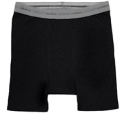 Hanes Black Boxer Brief Underwear