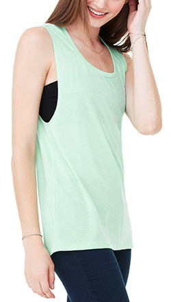 6bd36b7d3d Ladies Flowy Scoop Muscle Tank