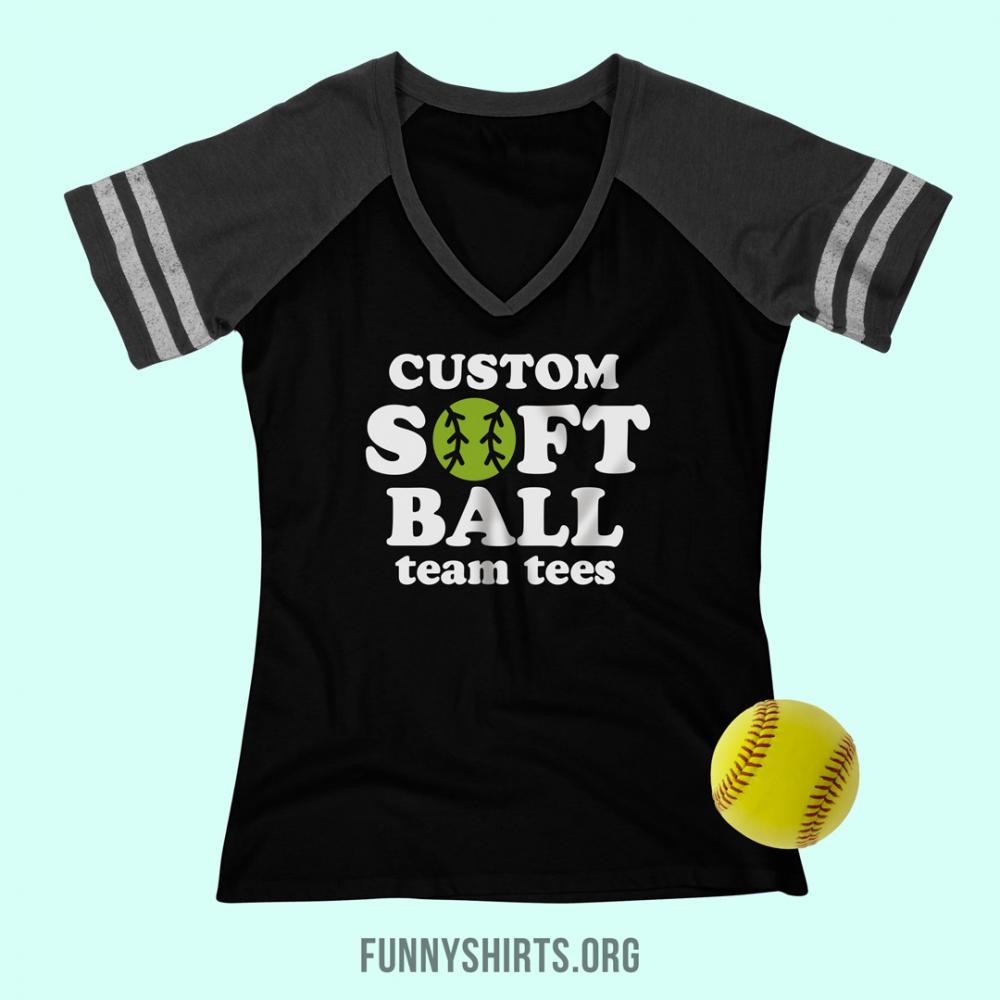 Customize A Funny Softball Team Tee