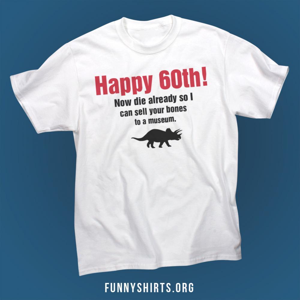Happy 60th Birthday Unisex Basic Promo T Shirt