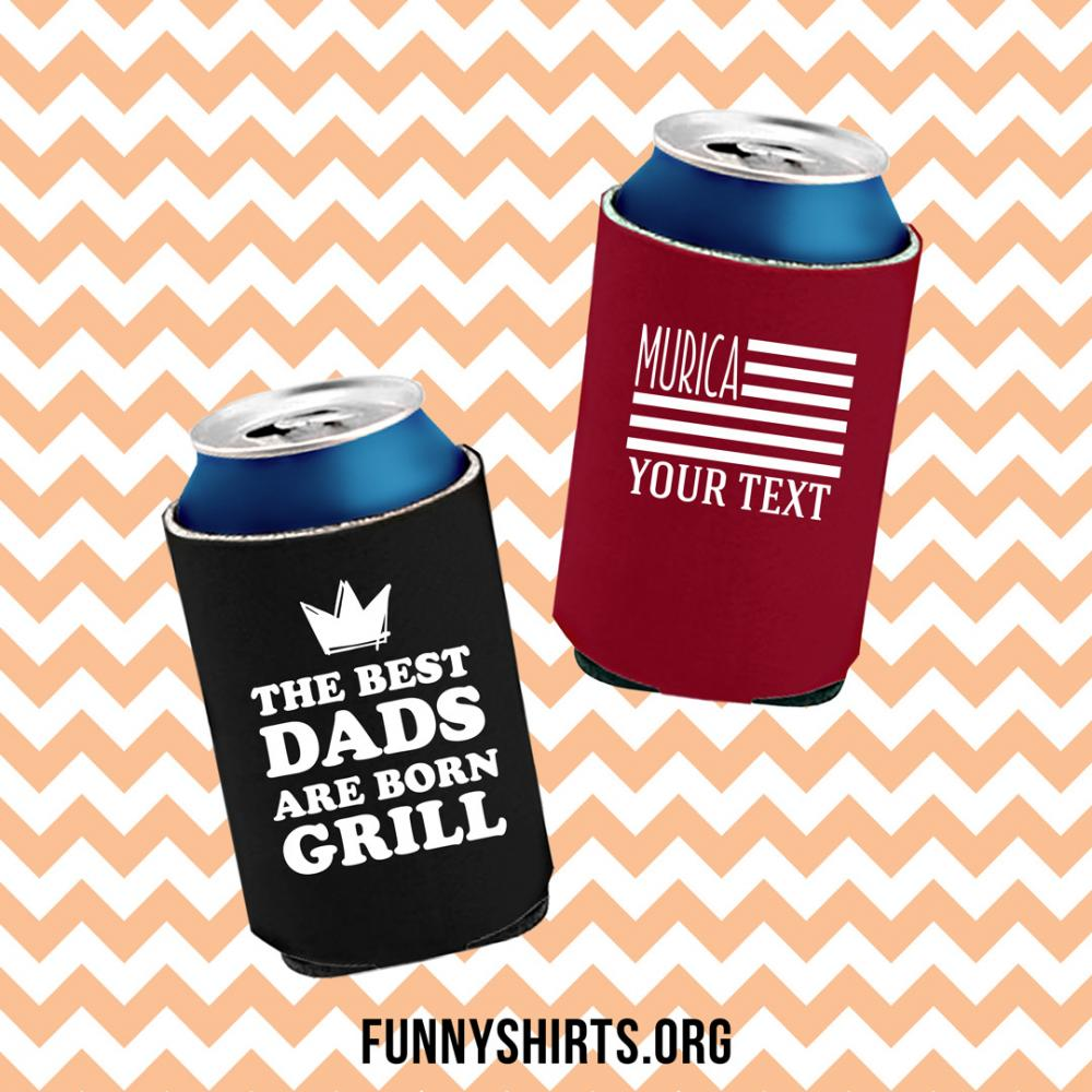 Custom Text Murica Koozie