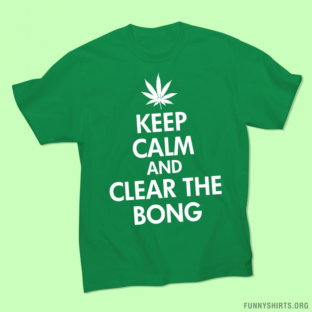 Keep Calm Clear Bong