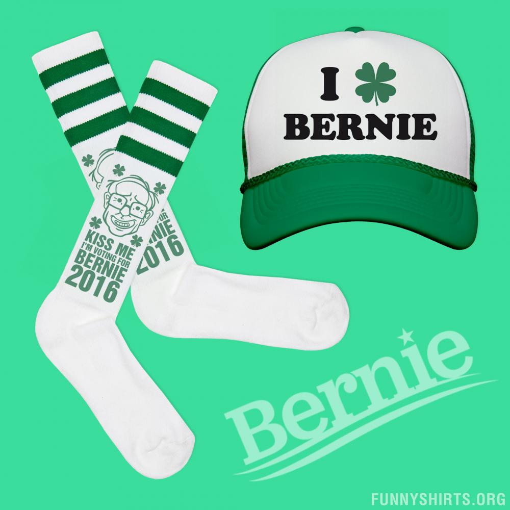 Bernie Sanders St Pattys Socks
