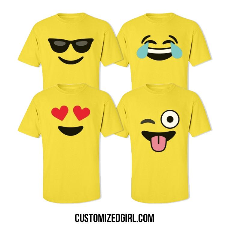 Funny emoji kissy face 2 costume unisex midweight cotton t for T shirt design upload picture