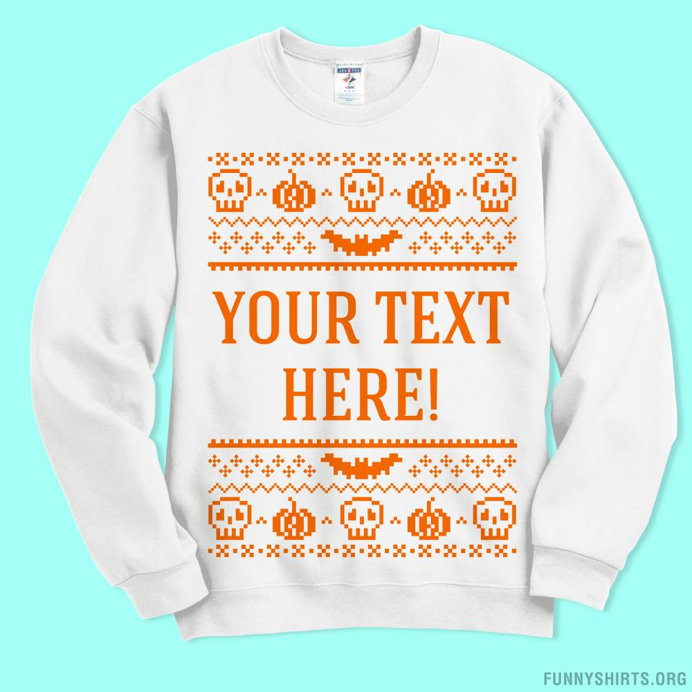 Custom Ugly Sweater Bat