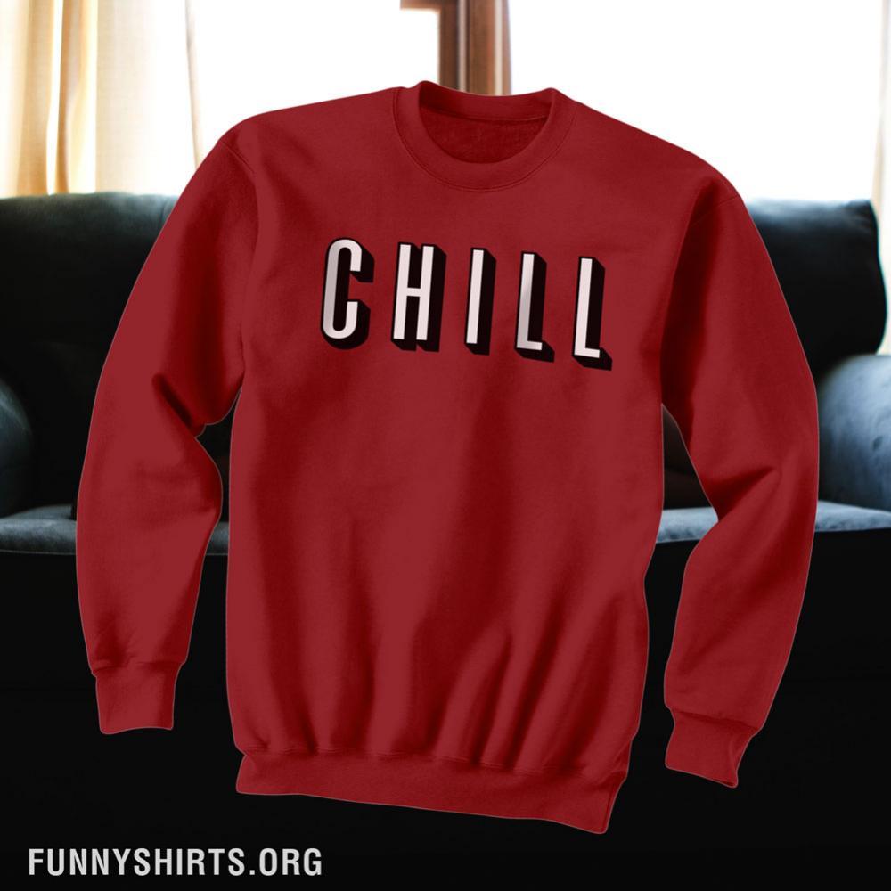 6ad71a38f676 Netflix Chill Logo Unisex Ultimate Cotton Crewneck Sweatshirt