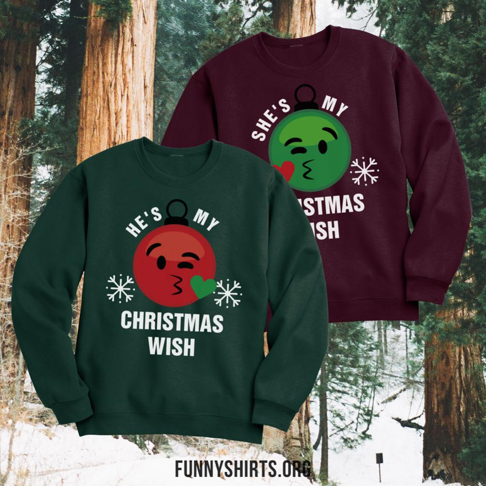 Emoji Christmas Wish Couple 2