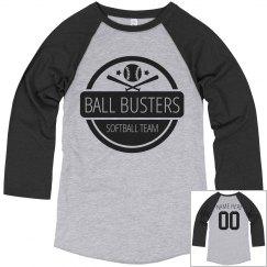 Funny Softball Team Ball Busters