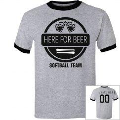 Here For Beer Softball Team