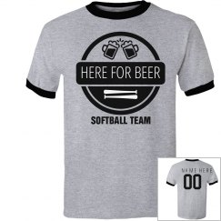 Here For Beer Softball Team