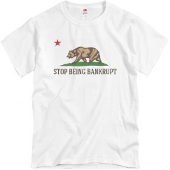 Stop Being Bankrupt Flag of California