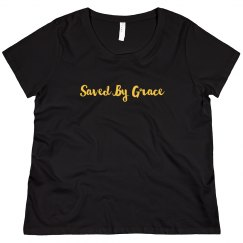 Saved By Grace Ladies T-Shirt