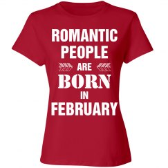Romantic people are born in February