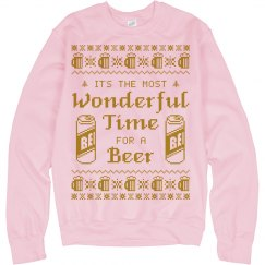 Most Wonderful Time for Beer Sweatshirt