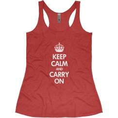 Keep Calm Womens Tank