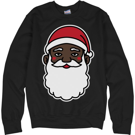 black santa funny christmas sweater