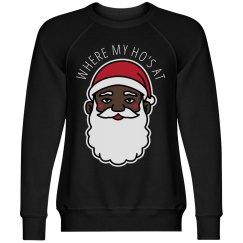 Where My Ho's At Black Santa Xmas