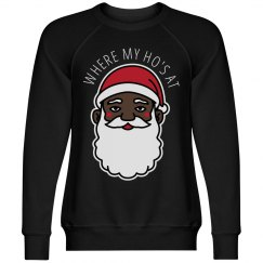 Where My Ho's At Black Santa Xmas